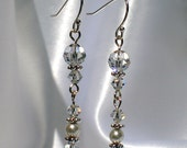 Unforgettable Clear Crystal and Sterling Earrings