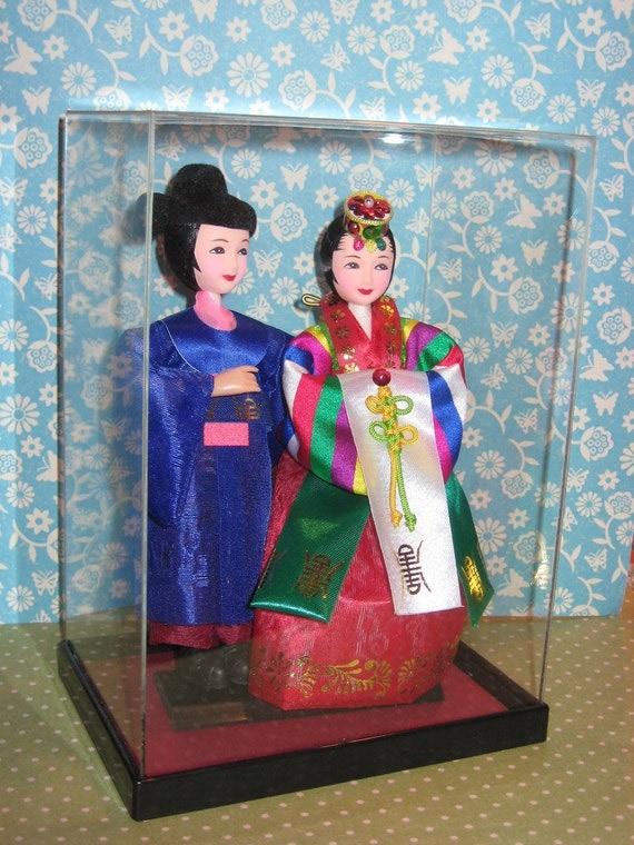 vintage korean wedding dolls