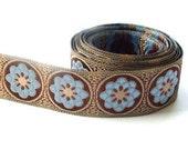 Blue folklore flower Ribbon/sewing tape 1 meter