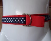 Child's Red and Navy Ribbon Belt
