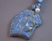 Blue lady pendant