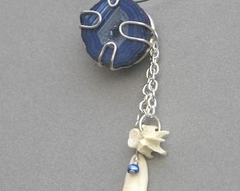 Cobalt Geode Necklace
