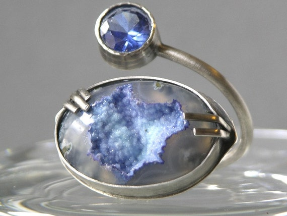 Misty Mountains Ring Made With Druzy Agate