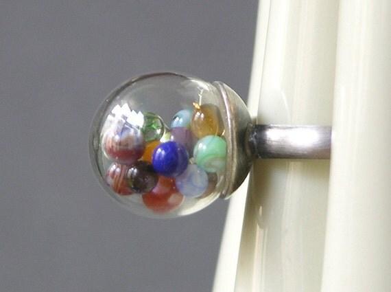 Mini Marble Orb Ring