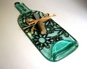 Recycled Wine Bottle Serving Tray/Cheese Board With Wine Cork Spreader