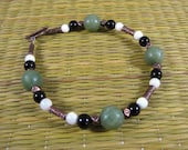 Faux Jade and Copper Bracelet
