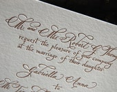 Emma - Custom Calligraphy and Letterpress Invitation