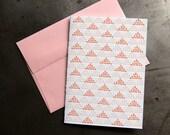 Triangles  - Letterpress cross stitch card