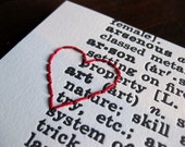 I heart ART : letterpress and embroidery