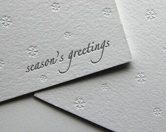 Season's greetings, letterpress card