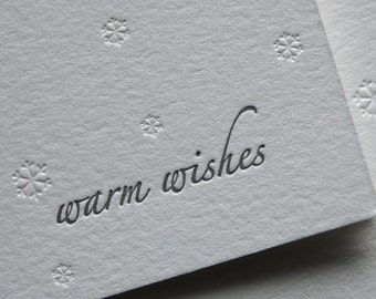 Warm wishes letterpress card
