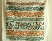 Natural Braid print scarf 6