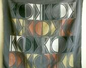 Dark Gray KC Tribal print scarf 2