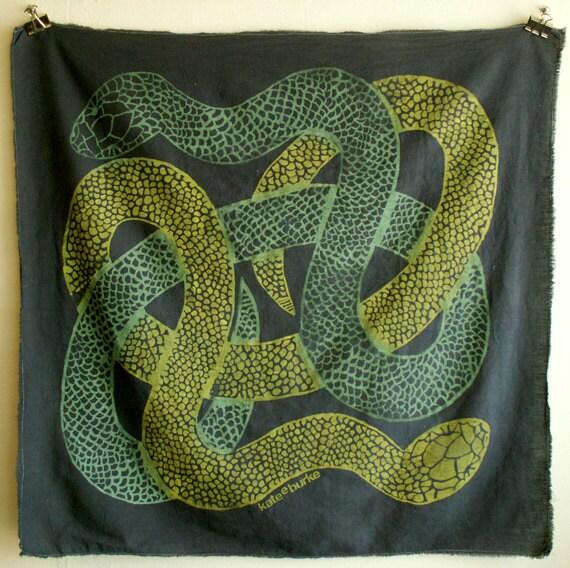 Dark Gray Snake print scarf 4
