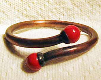 Copper Tube Cuff Bracelet