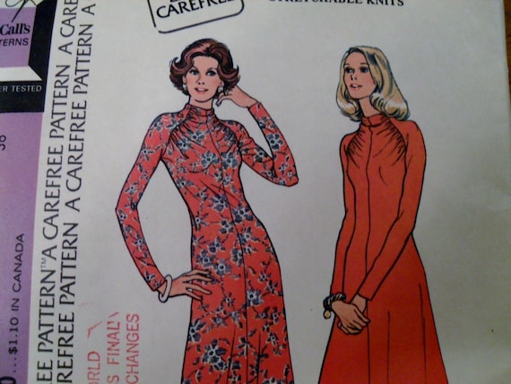 vintage McCalls 3875 - dress pattern from the 70s