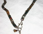 Jasper Necklace with Hindu Amulet