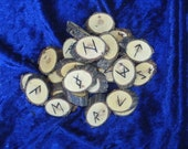 Willow Wood Elder Futhark Rune Set