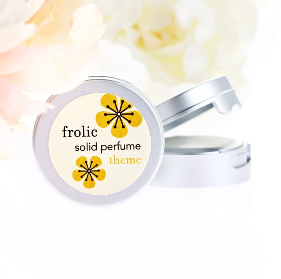 CUSTOM ORDER FOR J. Frolic tm Solid Perfume compact. Jasmine Honeysuckle. Delectable and irresistible. Gift under 10