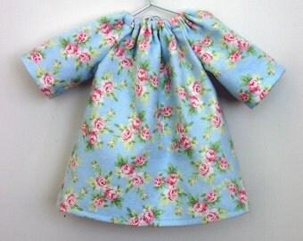 Waldorf doll clothes germandolls 10 - 12 inch Roses Nightgown Dress for Waldorf style Dolls Steiner dolls cloth dolls doll waldorf