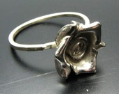 Sterling Silver Stackables - The Rose Ring