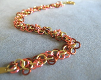 Autumn Glow Chainmaille Bracelet