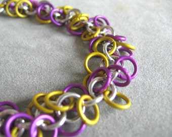 Custom School Spirit Shaggy Chainmaille Bracelet - You Pick Colors