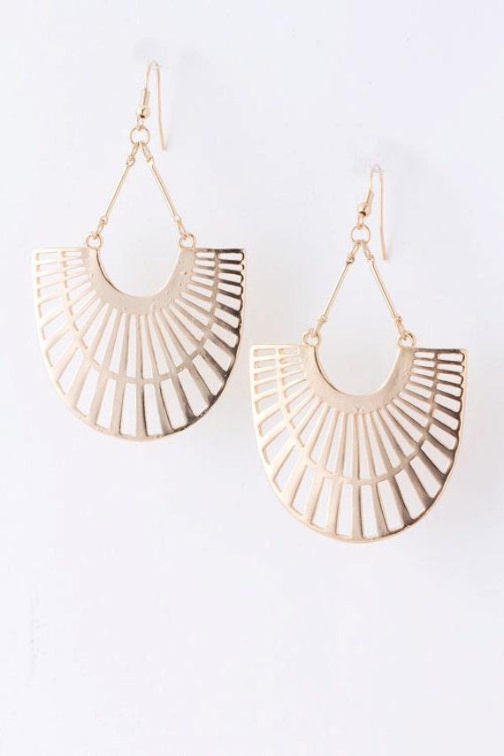 Chandelier Earrings, Filigree Earrings, - BUSHRA