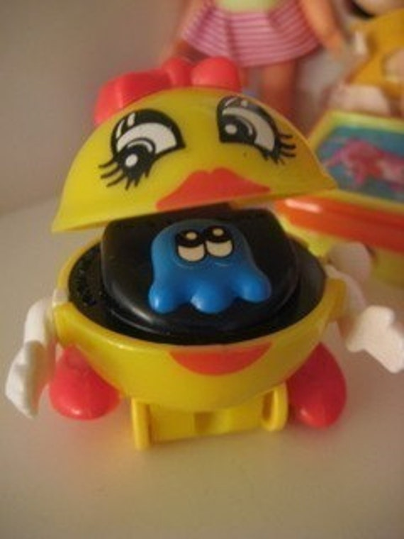 Toys For 7 And Up Mane Provided : Vintage s mrs pac man wind up toy mint by