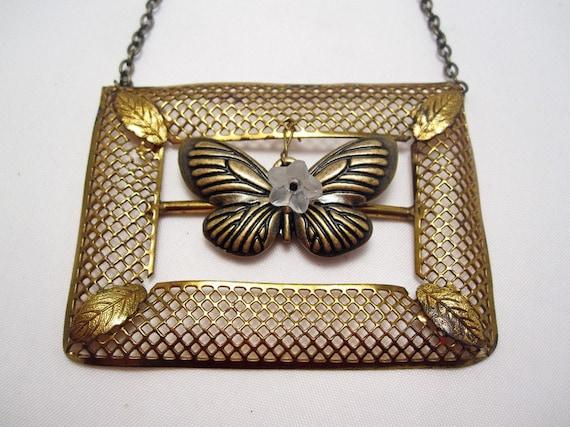 Framed Butterfly Necklace