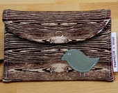 Tweet Woodgrain pocket style Quilt Wallet/Card Holder.