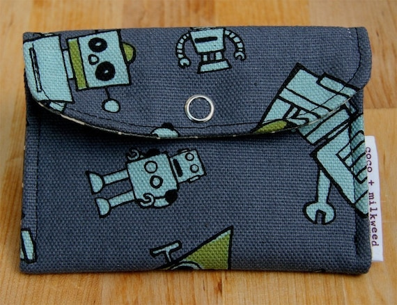 JAPANESE ROBOT pocket wallet\/card holder.