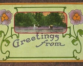 Greetings From ... Two Vintage Postcards