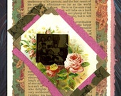 Dream Life ... Tintype Collage Greeting Card