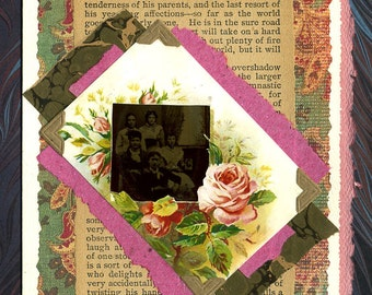 Dream Life Tintype Collage Greeting Card