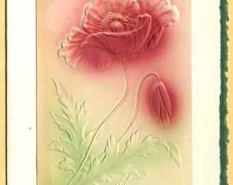 Many Happy Returns ... Vintage Embossed Postcard on Greeting Card