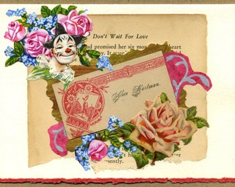 Don't Wait for Love Collage Card
