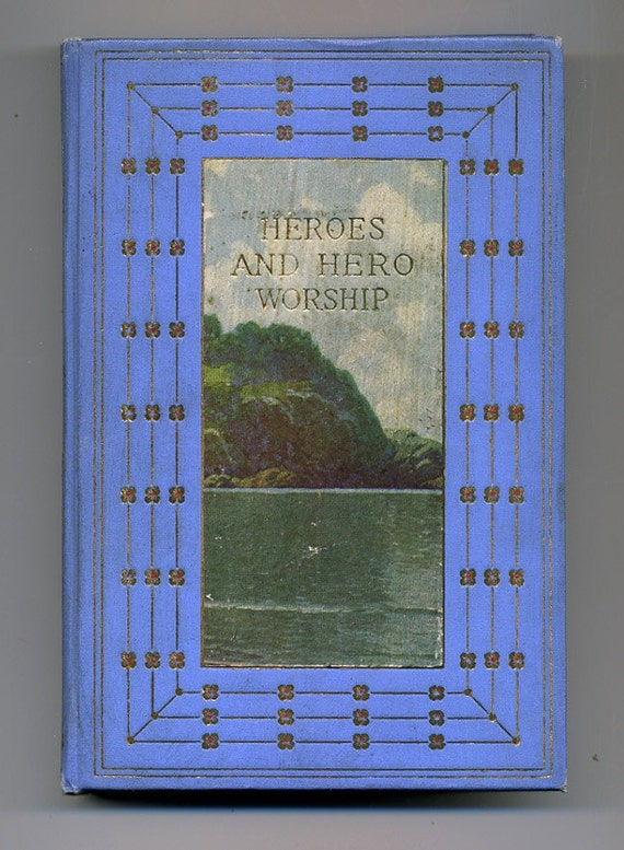 Writing Journal Travel Journal from vintage Heroes and Hero Worship