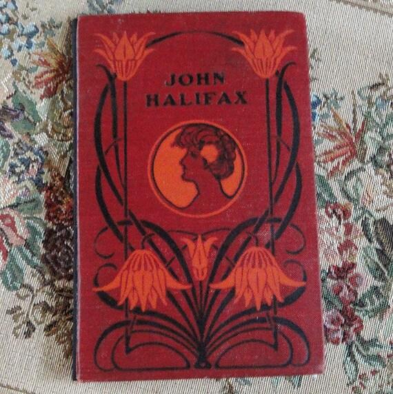 Red Floral Woman Victorian Handbound Artist's Journal