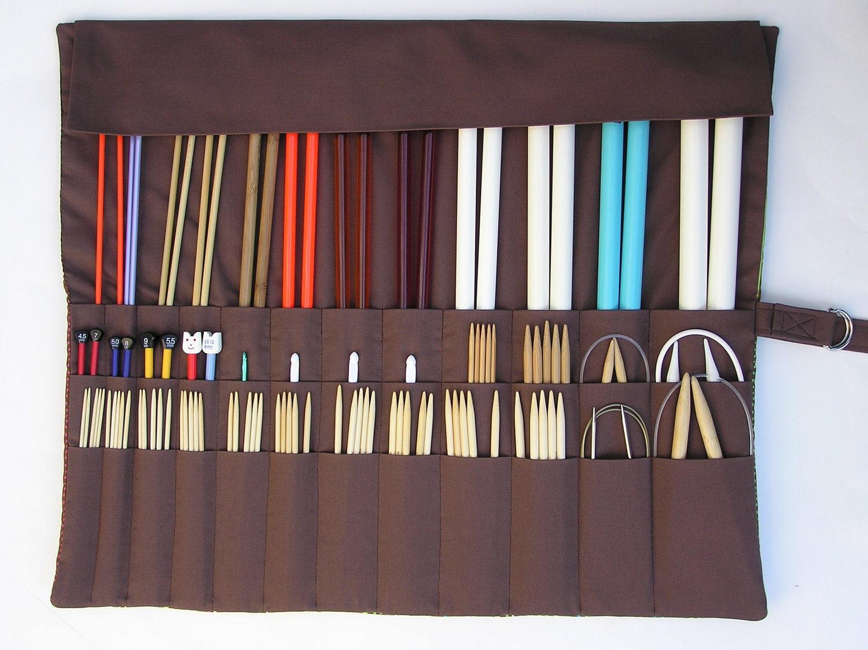 Knitting Needle Case Nz : Large knitting needle organizer case
