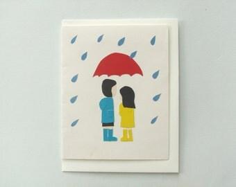 Umbrella, umbrella - print card