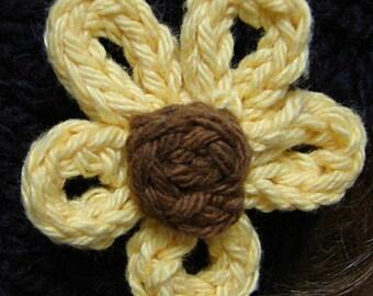 Handknit Daisy Flower Pattern