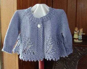 Pattern Hand Knit Lace Baby Girl Sweater Top Down Lace Knit Pattern