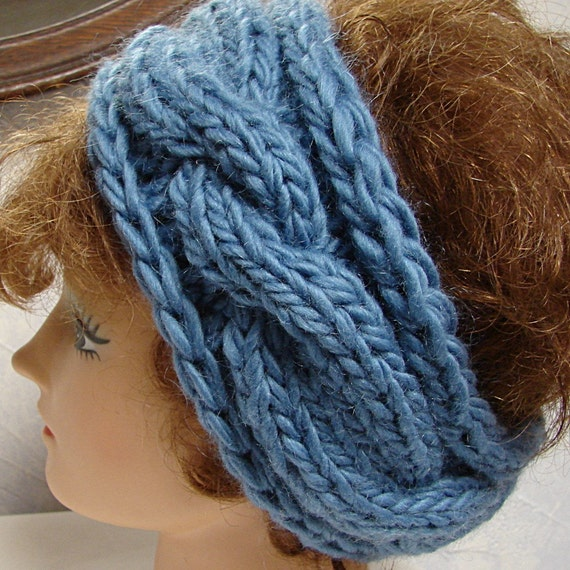 Hand Knitted Headbands Patterns : Items similar to Pattern Hand Knit Cable Headband Twisted Sisters Knit Patter...