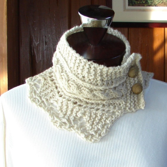 Pattern for Cabled Neck Warmer