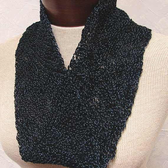 Navy Blue Mobius, Cowl, Scarf, Soft Wool
