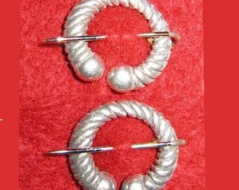 Miniature Torc Penannular Pin Pair