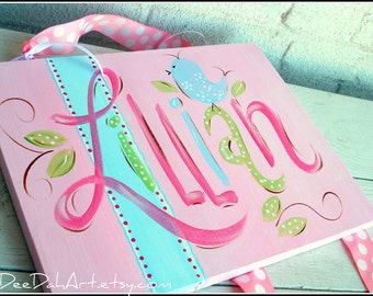 Personalized Custom Hand Painted Bow Holder