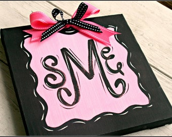 Custom Monogram or Name Canvas
