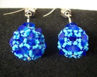 Crystal Cubism - elegant earrings